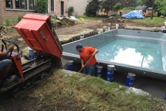Inground Swimming Pool Construction Process Photo  Gallery - Yorkstone Pools & Landscapes