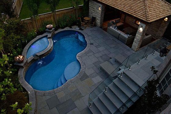 Fiberglass Swimming Pools - Yorkstone Pools & Landscapes