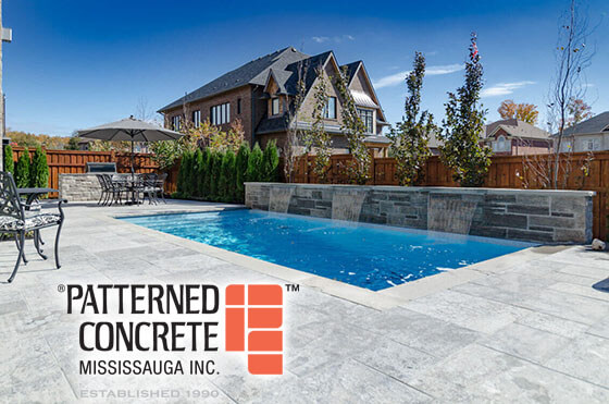 Pool Landscaping - Patterned Concrete Mississauga